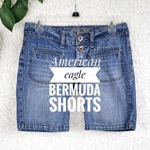 American Eagle Bermuda Jean Shorts Size 0